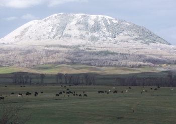 First snow on Sleeping Giant