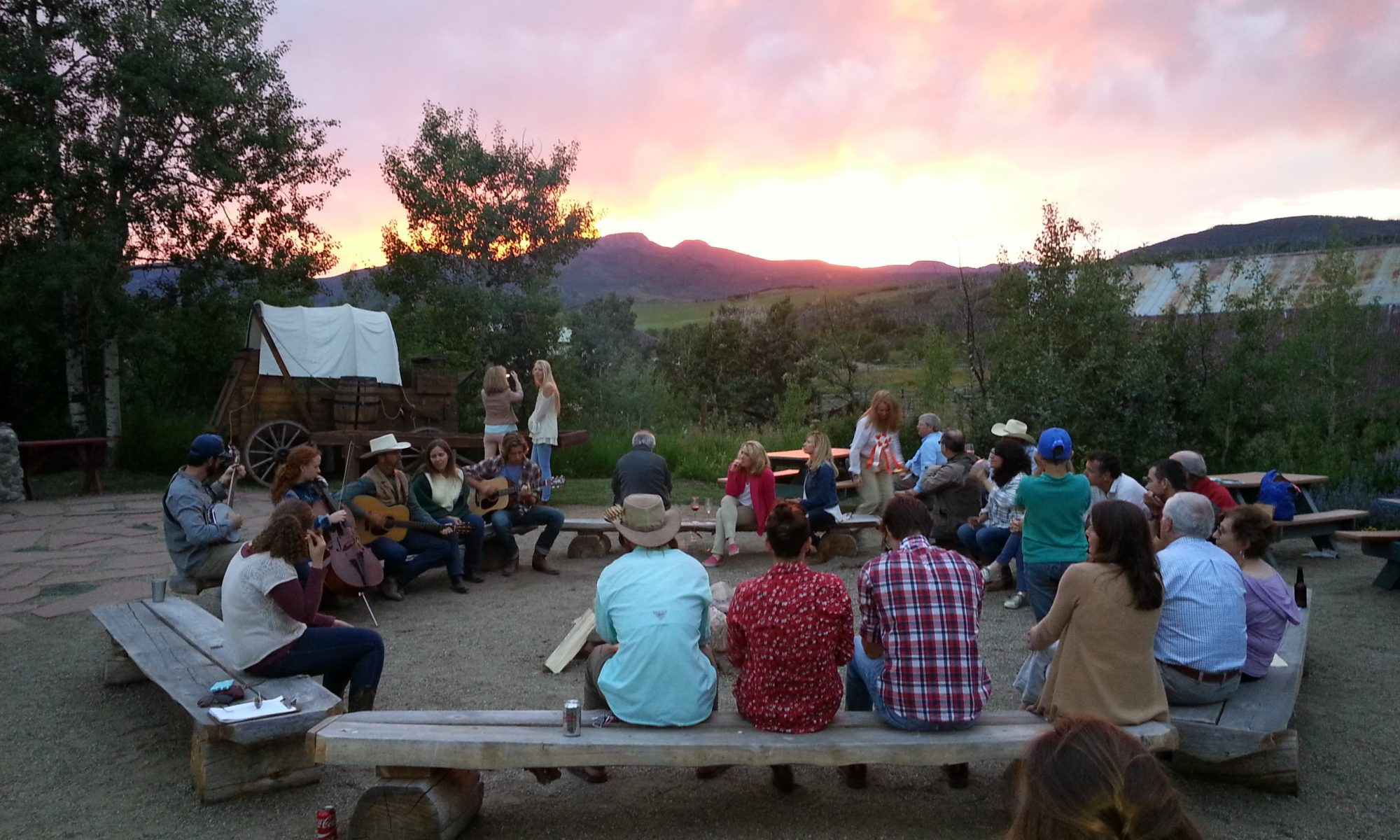 Home Ranch campfire music and guests