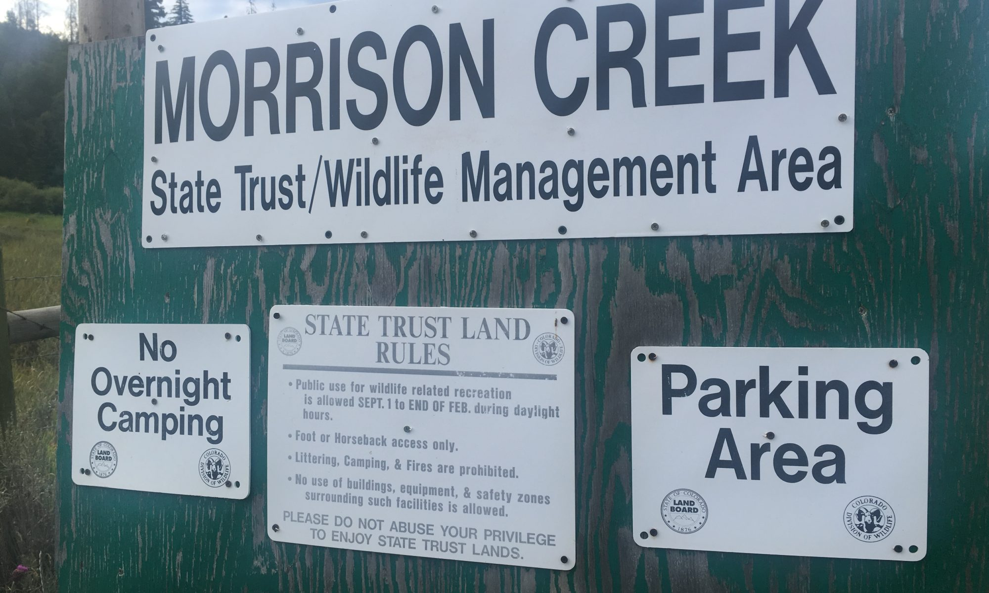 Morrison Creek State Trust Lands sign