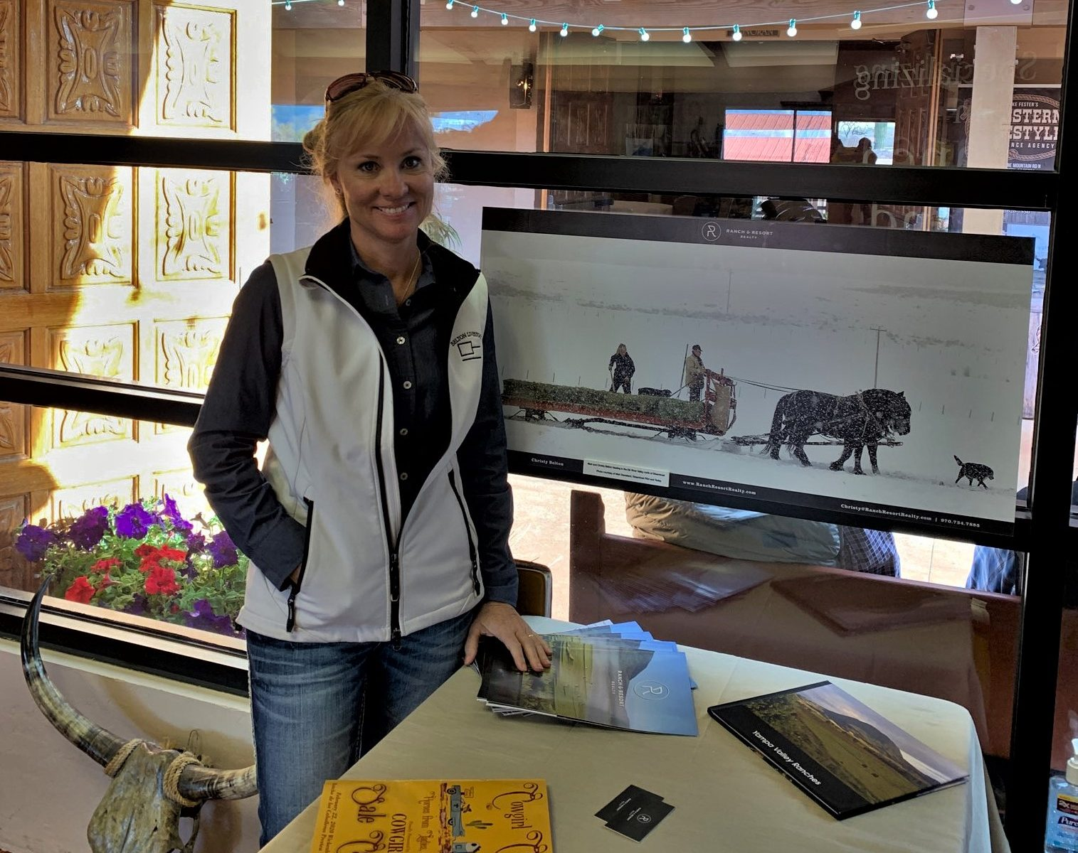Christy Belton at Cowgirl Cadillacs booth