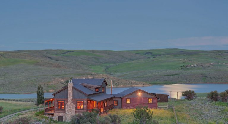 Elkhead Ranch at dusk