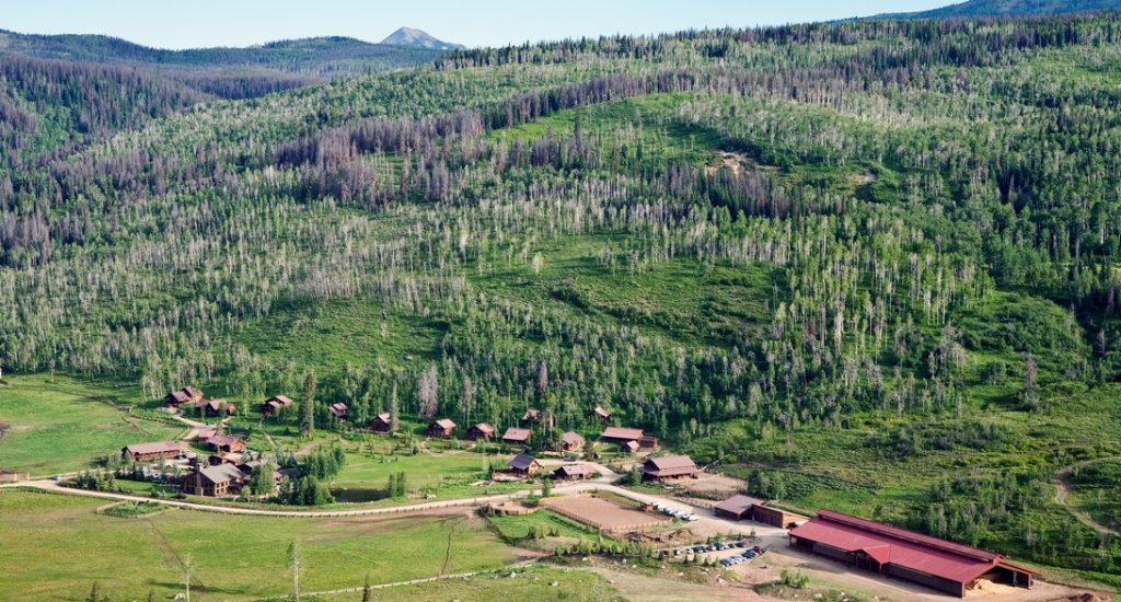 Aerial view of Vista Verde Guest Ranch